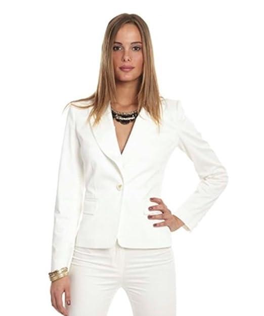moda firmata a1190 d139e Miss money money - Giacca da abito - Blazer - donna bianco ...