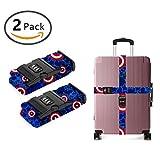 JACINTAN Design Luggage Strap Adjustable Lock stars love heart blue