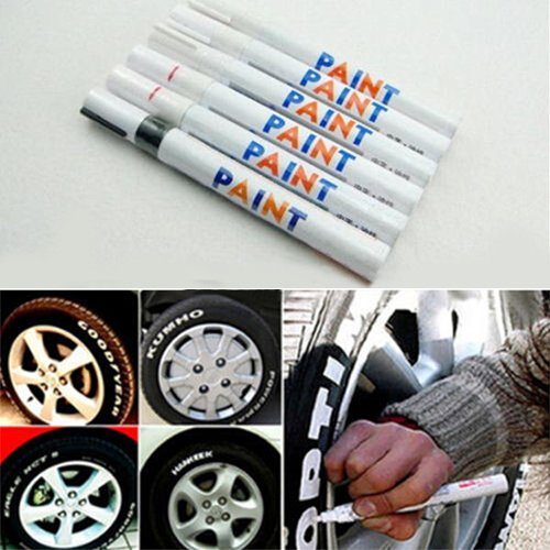 interjunzhan Car Tyre Tire Tread Rubber Metal Permanent Paint Marker Pen 12 Colors Waterproof(1 pcs,1 Color) Purple