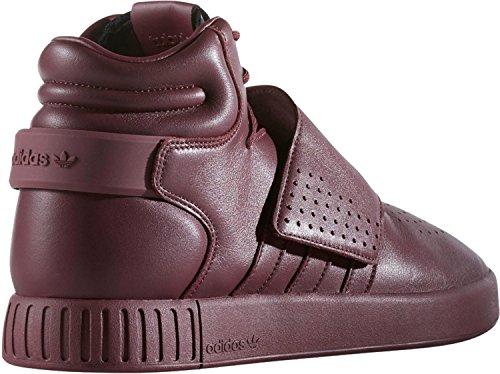 Adidas Mens Tubular Invader Strap Sneaker - Maroon