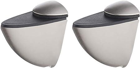 KES Soportes Para Estantes MEDIUM Ajustable Metal Sólido Pared Montaje, 2 Piezas, Cepillado, HSB300B-2-P2
