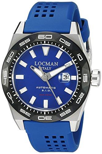 Locman Italy Men's 0215V3-0KBLNKS2B Stealth 300 Metri Analog Display Automatic Self Wind Blue Watch by Locman Italy