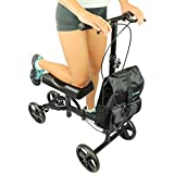 Knee Scooter by Vive [Bag Included] - Steerable Walker for Broken Leg and Foot Injuries - Kneeling Roller Cart with Pad for Senior and Elderly Medical Mobility - Caddy Crutch