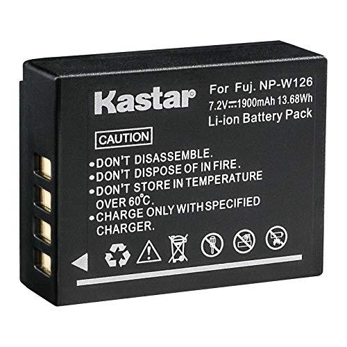 Kastar Battery for Fujifilm NP-W126 NP-W126S & FUJI X-Pro2 / X-Pro1 / X-T2 / X-T1 / X-T10 / X-E2S / X-E2 / X-E1 / X-M1 / X-A10 / X-A3 / X-A2 / X-A1, FinePix HS50EXR / HS30EXR / HS33EXR Digital Cameras