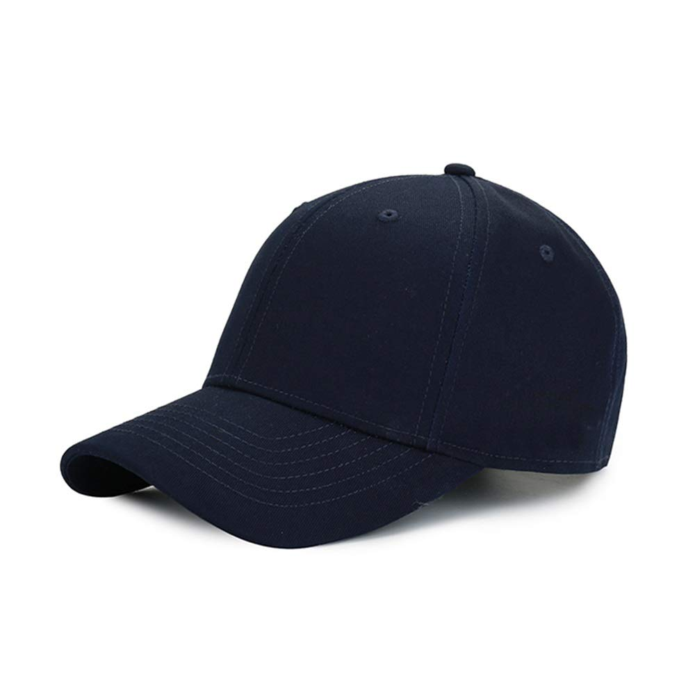 bluee Couple Hat Hip Hop Leisure Sport Bending Baseball Cap (color   Black)