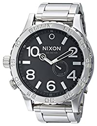 Nixon Men's NXA057487 Tide Phase Display Sub- Black Dial Watch