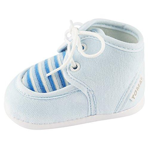 Zapatos de gateo de invierno para bebés azul bebé