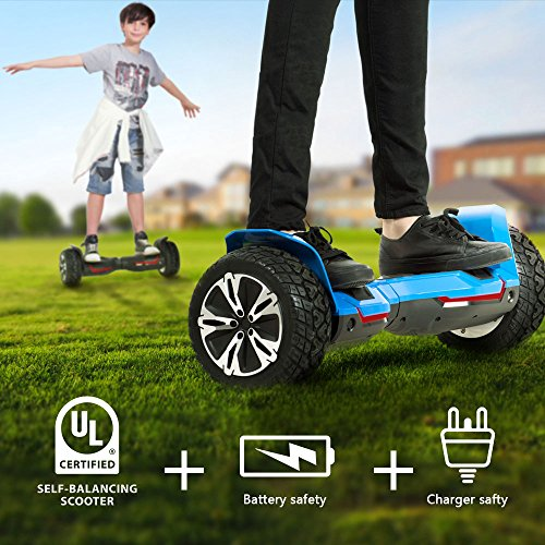 Gyroor Warrior 8.5 inch All Terrain Off Road Hoverboard with Bluetooth Speakers and LED Lights, UL2272 Certified Self Balancing Scooter 2018(Black) by Gyroor (Image #4)