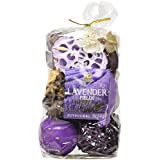 Hosley's Set of 6 Lavender Fields Chunky Potpourri - 5 oz each. Perfect for everyday use, wedding, events, aromatherapy,Spa, Reiki, Meditation