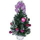 Nice Tabletop Christmas Tree By Clever Creations | Decorated With Pink Balls,  Presents And Holly In
