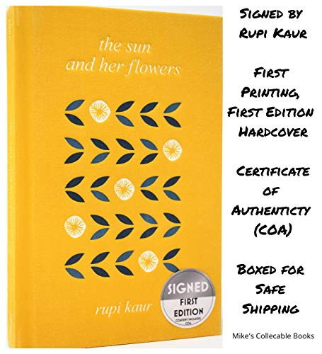 The Sun and Her Flowers AUTOGRAPHED by Rupi Kaur (Milk & Honey Author) SIGNED BOOK -