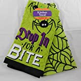 Halloween Drop in for A Bite Kitchen Towel Set of 2