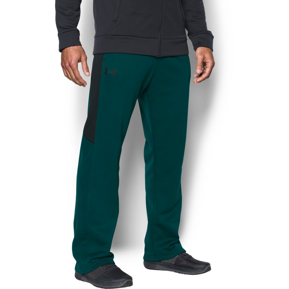 Under Armour Men's Storm Armour Fleece Icon Pant, Arden Green/Black, 4XL x 32 by Under Armour (Image #1)