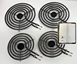 8 in stove burner - 4 Pack - MP22YA Electric Range Burner Element Unit Set - 2 x MP15YA 6