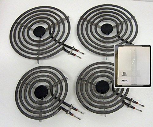 Replacement Range - -=LiU=- 4 Pack - MP22YA Electric Range Burner Element Unit SET - 2 x MP15YA 6