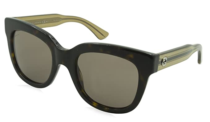 Amazon.com: Gucci anteojos de sol GG 3748/S yu8co acetato ...