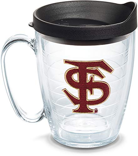 Tervis 1084968 Florida State Seminoles Tumbler with Emblem and Black Lid 16oz Mug, Clear ()