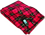 "Car Cozy 2 - 12-Volt Heated Travel Blanket (Red Plaid, 58"" x 42"") with Patented Safety Timer by Trillium Worldwide: more info"
