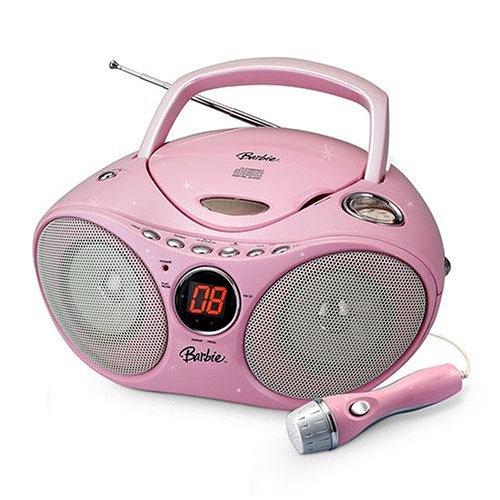 Barbie Karaoke CD Player AM/FM Radio - Karaoke Boombox Cd Player