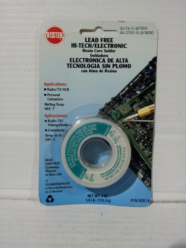 Kester Lead Free Hi-tech/electronic Rosin Core Solder 4oz. 95%tin-5%Antimony P/N82619