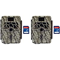 Browning Trail Cameras Command Ops 14MP IR Game Camera, 2 Pack + 8GB SD Cards