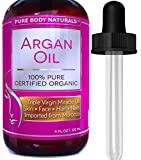 Pure Body Naturals Organic Argan Oil for Skin, Face, Hair & Nails, 4 fl. oz.