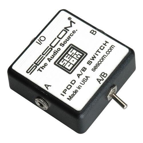 - Sescom SES-IPOD-AB iPod Stereo Audio MP3 FLAC WMA Player A/B Switch 3.5mm (1/8)