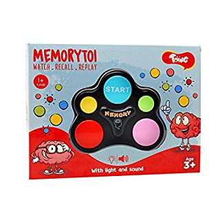 Toiing Memorytoi – Electronic Memory Game, Great Travel Toy for Kids & Teaches Persistence (3 Year Old and Above)