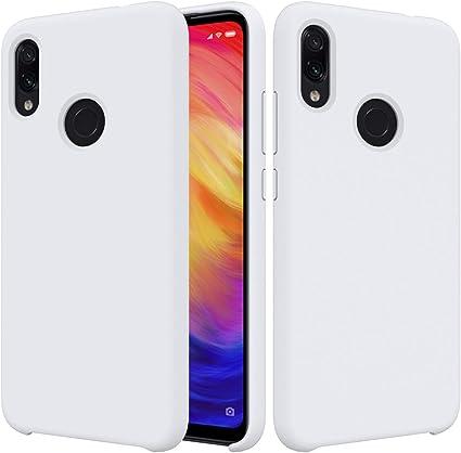 CoverTpu Funda Xiaomi Redmi Note 7 Silicona, Blanco Funda Líquido ...