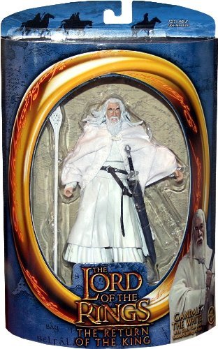 GANDALF THE WHITE wtih Cloth Cape and Sword-Slashing Action from THE LORD OF THE RINGS: THE RETURN OF THE KING Action Figure