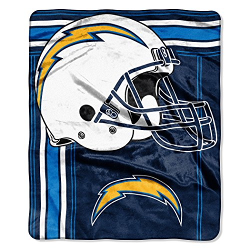 The Northwest Company NFL San Diego Chargers Touchback Plush Raschel Throw, 50