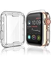 [عبوتين] غطاء حماية لجهاز Apple Watch Series 5 / Series 4 واقي شاشة 44 مم، iWatch جراب واقي شامل من مادة TPU عالية الوضوح رفيع للغاية للسلسلة 5/4 (44 مم)