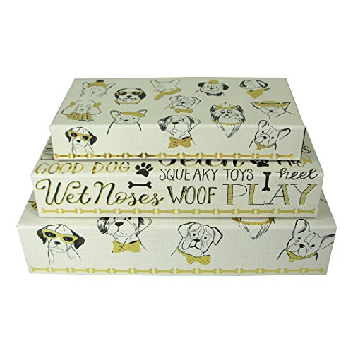 Molly and Rex Puppy Portraits Pencil Boxes - Set of 3