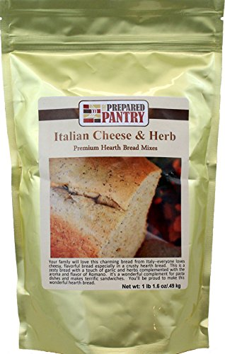 (The Prepared Pantry Italian Cheese and Herb Gourmet Bread Machine Mix, 17.6 Ounce)