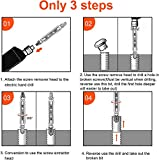 6Pcs Screw Extractor Set for Damaged Screw Remove