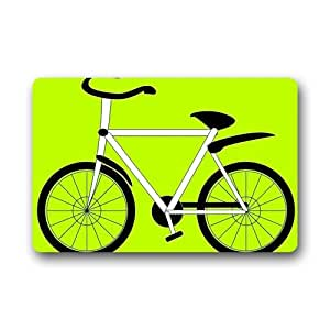 Bicycle Background Doormat/Gate Pad for outdoor,indoor,bathroom use!23.6inch(L) x 15.7inch(W)