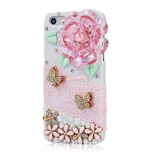 "EVTECH(TM) für Iphone 6Plus/iPhone 6s Plus (5.5"") Bling Glitter Diamant Schutzhülle/Transparent Hart Kunststoffe Hülle/strass Etui Schale/Plastik Handytasche/Schale case cover"
