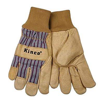 Kinco 1917KW Grain Pigskin Leather Palm Work Glove with Knit Wrist