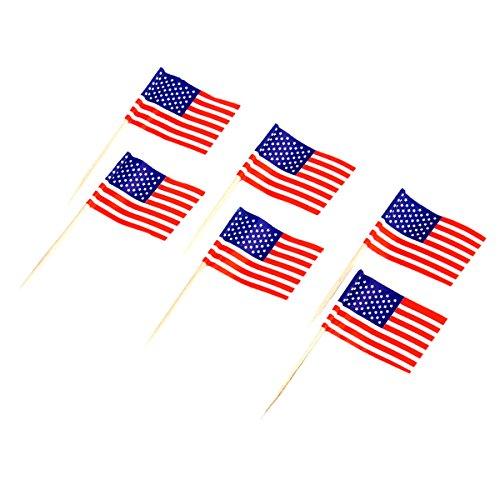50pcs American Flag Cake Decoration Cupcake Picks (American Flag Cupcake Picks)