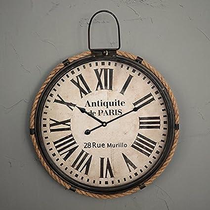 QSS/ Viento industrial redondos tapices pared reloj/creative living comedor pared/relojes de