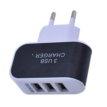 Puerto USB Triple Adaptador de Cargador de Viaje para el ...