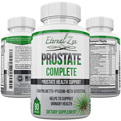 Prostate Complete Support Saw Palmetto Pygeum Beta-sitosterol Zinc Frequent Urination