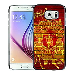 Manchester United(4) Black Samsung Galaxy S6 Screen Cover Case Genuine Design High Quality