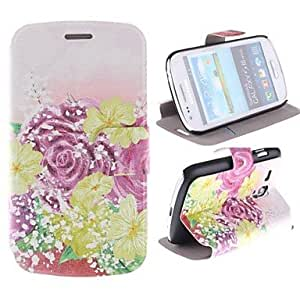 SOL The Beauty of The Flower Design Full Body PU Leather Case with Card Slot for Samsung Galaxy S3 Mini I8190