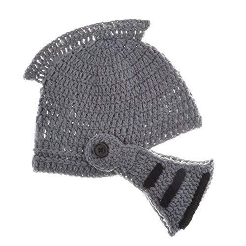 Westeng Kinder Winter Wollmütze handgemachte gestrickte Hut Masken römischen Krieger Ritter Lustige warme und wind Geschenk N96145928OVNG298