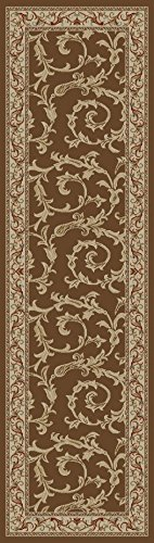 Condcord Global Trading Concord Global Jewel Ivy Runner Brown/Beige