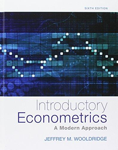 Bundle: Introductory Econometrics: A Modern Approach, 6th + LMS Integrated MindTap Economics, 1 term (6 months) Printed