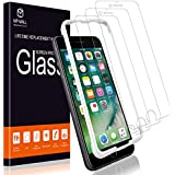 [3-Pack] MP-MALL Screen Protector for iPhone 7 Plus, [Case Friendly] Tempered Glass [Alignment Frame Easy Installation] with Lifetime Replacement Warranty