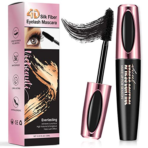VieBeauti ULTIMATE 4D Silk Fiber Lash Mascara Adds Length, Depth and Glamour Effortlessly - Waterproof, Long-Lasting, Just Like Falsies! (Ultimate Volume Mascara)