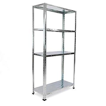 Estanteria metálica galvanizada para almacenar de 4 baldas 70x30x137cm: Amazon.es: Electrónica